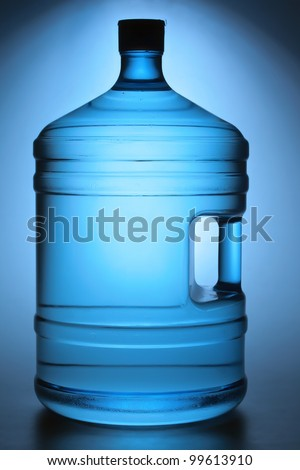 Large 19 litres water bottle for cooler - stock photo