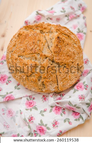 Large loaf of bread - stock photo