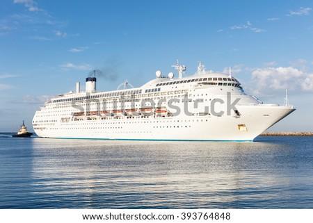 Large Luxury Cruise Liner - stock photo