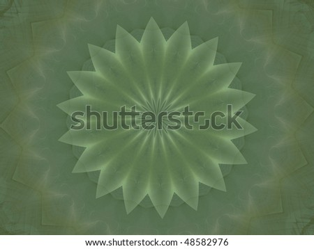 large mandala, rendered in matching colors as previous image - stock photo