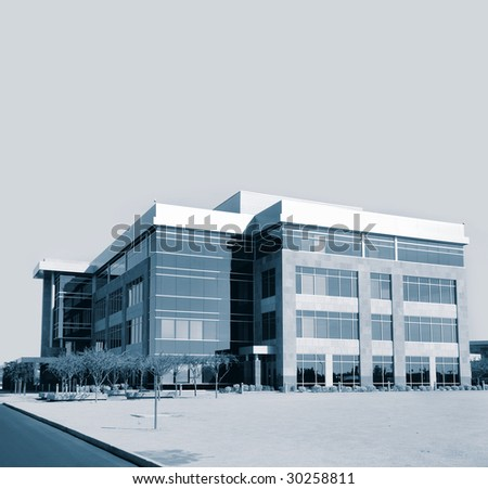Large modern commercial business and office real estate