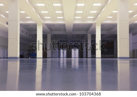 Large modern empty premises in some office building - stock photo