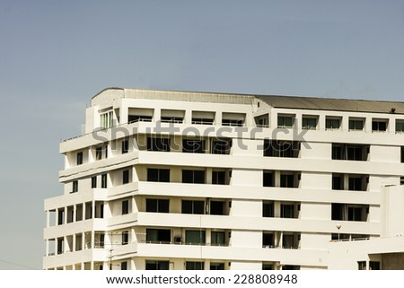 Large modern office building - stock photo
