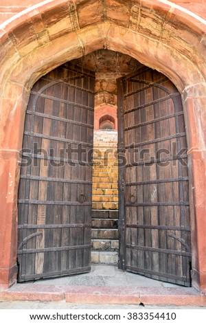 large old gate with wooden doors & Castle Door Stock Images Royalty-Free Images \u0026 Vectors | Shutterstock