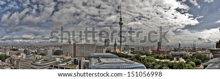Large panoramic view of Berlin, Germany