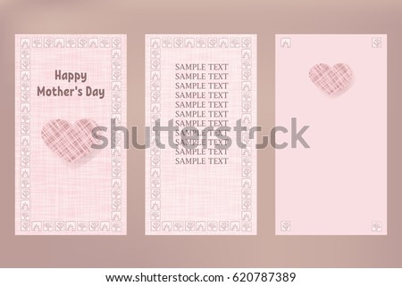 Large Pink Heart Happy Mothers Day Stock Illustration 620787389 ...