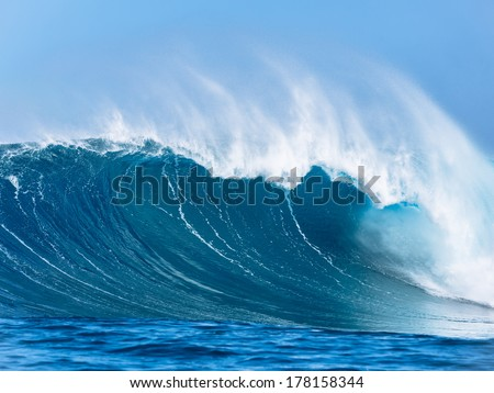 Large Powerful Ocean Wave - stock photo