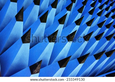 Large Pylons used in a lab for Sound Insulation and similiar purposes.  - stock photo