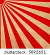large red and white japansese rising sun - stock vector