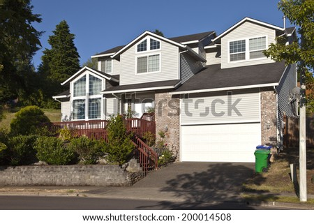 Large residential home in Greshan Oregon. - stock photo