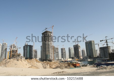 Large Scale Dubai Construction Site