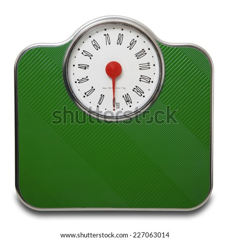 large scale green in white background - stock photo