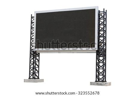 Large scoreboard stadium isolated on white background. use clipping path - stock photo