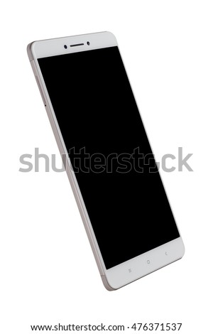 Large screen smartphone isolated on white background