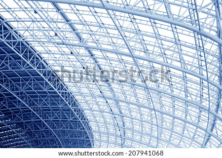large steel structure truss closeup of photo