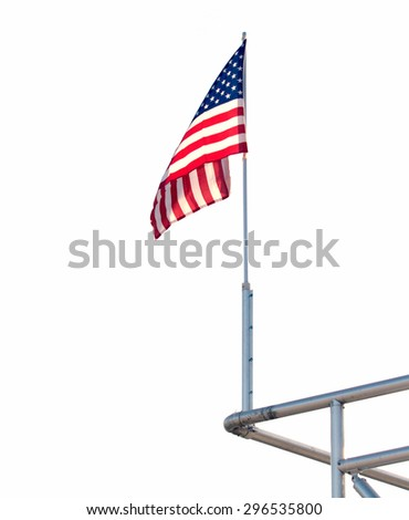 Large U.S. Flag  isolated on white background - stock photo