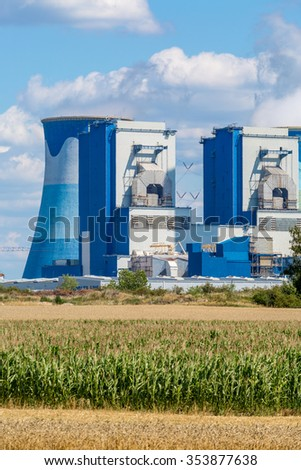 Large view on the power station in Poland Opole