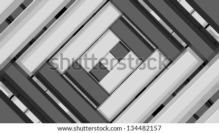 Large wallpaper with white and black girder