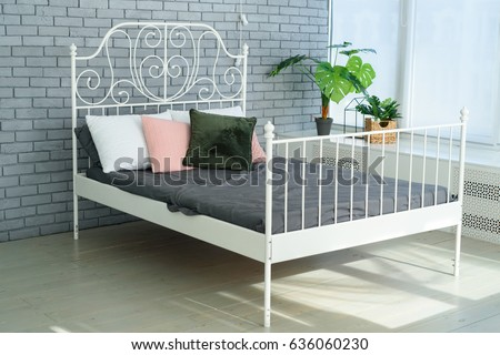 Metal Bed Frame Stock Images RoyaltyFree Images Vectors