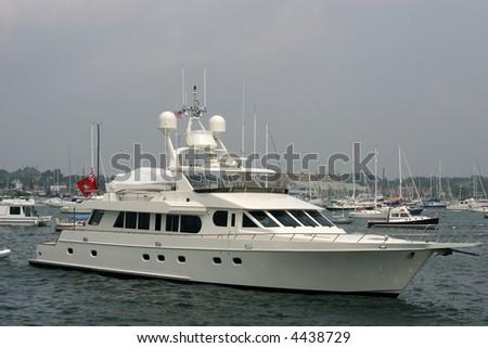 large yacht - stock photo