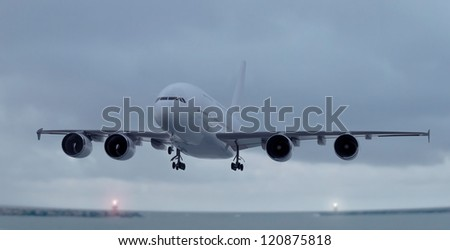 Largest Airliner / CG - stock photo