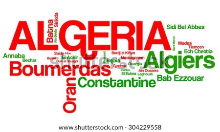 Largest Cities of Algeria - stock photo