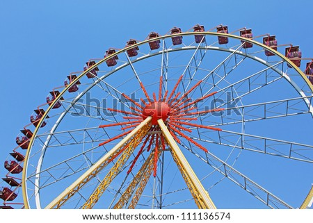 Largest ferris wheel in Ukraine. Odesa, Shevchenko Park - stock photo