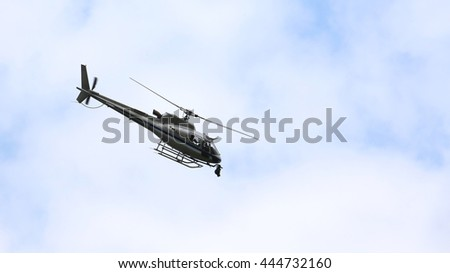 largest helicopter flying in the sky with the camera for TV top