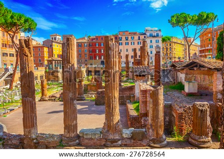 Largo Argentina in Rome - stock photo