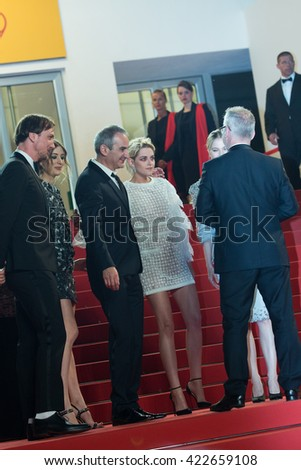 Lars Eidinger, Director Olivier Assayas, actress Kristen Stewart attends the 'Personal Shopper' premiere at the 69th Festival de Cannes. May 17, 2016  Cannes, France - stock photo