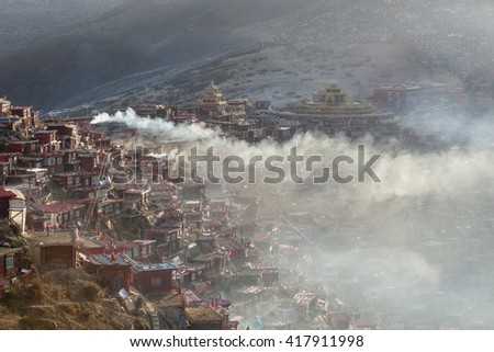 Larung gar(Buddhist Academy) in Sichuan, China