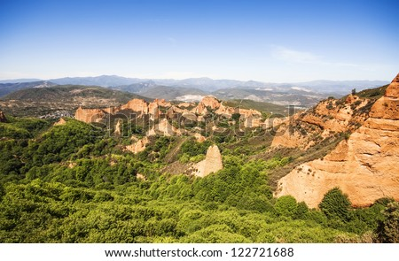 Las Medulas, ancient Roman mines, UNESCO, Leon (Castilla y Leon), Spain - stock photo