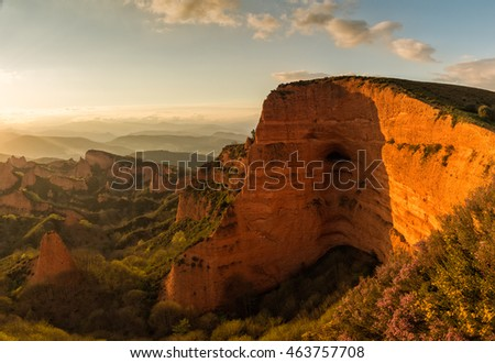 Las Medulas mountains in Leon, Spain