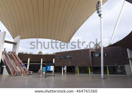 LAS PALMAS DE GRAN CANARIA, SPAIN -  AUGUST 2, 2016: Santa Catalina bus interchange  in Las Palmas, Spain. This is one of the main communications hub city