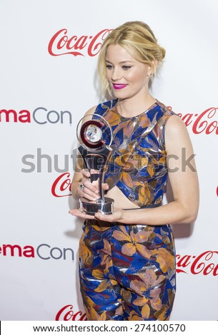 LAS VEGAS - APR 23 : Actress Elizabeth Banks, winner of CinemaCon's Breakthrough Filmmaker of the Year award, attends the 2015 Big Screen Achievement Awards on April 23 , 2015 in Las Vegas. - stock photo