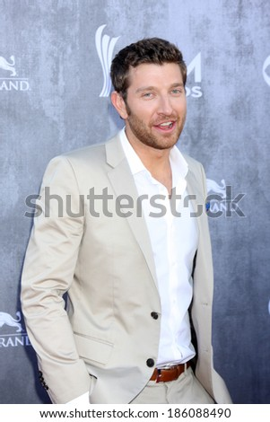 LAS VEGAS - APR 6:  Brett Eldredge at the 2014 Academy of Country Music Awards - Arrivals at MGM Grand Garden Arena on April 6, 2014 in Las Vegas, NV - stock photo