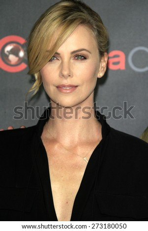 LAS VEGAS - APR 21:  Charlize Theron at the Warner Brothers 2015 Presentation at Cinemacon at the Caesars Palace on April 21, 2015 in Las Vegas, CA - stock photo