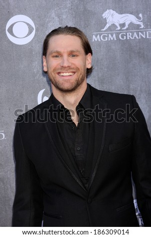LAS VEGAS - APR 6:  Chase Rice at the 2014 Academy of Country Music Awards - Arrivals at MGM Grand Garden Arena on April 6, 2014 in Las Vegas, NV - stock photo