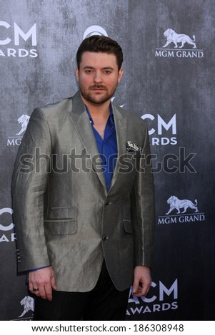LAS VEGAS - APR 6:  Chris Young at the 2014 Academy of Country Music Awards - Arrivals at MGM Grand Garden Arena on April 6, 2014 in Las Vegas, NV - stock photo