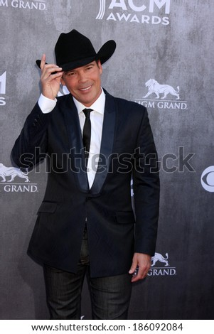 LAS VEGAS - APR 6:  Clay Walker at the 2014 Academy of Country Music Awards - Arrivals at MGM Grand Garden Arena on April 6, 2014 in Las Vegas, NV - stock photo