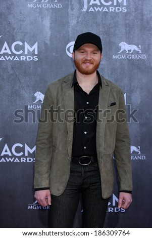 LAS VEGAS - APR 6:  Eric Paslay at the 2014 Academy of Country Music Awards - Arrivals at MGM Grand Garden Arena on April 6, 2014 in Las Vegas, NV - stock photo
