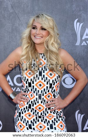 LAS VEGAS - APR 6:  Jamie Lynn Spears at the 2014 Academy of Country Music Awards - Arrivals at MGM Grand Garden Arena on April 6, 2014 in Las Vegas, NV