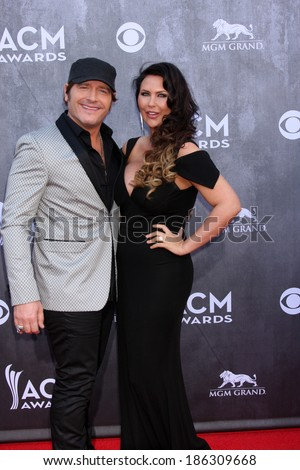 LAS VEGAS - APR 6:  Jerrod Niemann at the 2014 Academy of Country Music Awards - Arrivals at MGM Grand Garden Arena on April 6, 2014 in Las Vegas, NV - stock photo