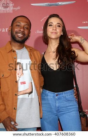 LAS VEGAS - APR 17:  Jordan Rock, Stella Maeve at the John Varvatos 13th Annual Stuart House Benefit at the John Varvatos Store on April 17, 2016 in West Hollywood, CA - stock photo