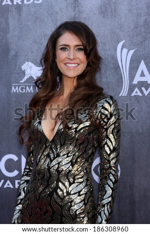 LAS VEGAS - APR 6:  Kelleigh Bannen at the 2014 Academy of Country Music Awards - Arrivals at MGM Grand Garden Arena on April 6, 2014 in Las Vegas, NV - stock photo