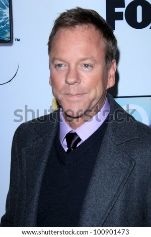 "LAS VEGAS - APR 23:  Kiefer Sutherland arrives at the ""Touch"" Panel and Screening  at TV Academy on April 23, 2012 in No Hollywood, NV"