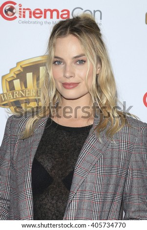 LAS VEGAS - APR 12: Margot Robbie at the Warner Bros. Pictures Presentation during CinemaCon at Caesars Palace on April 12, 2016 in Las Vegas, Nevada - stock photo