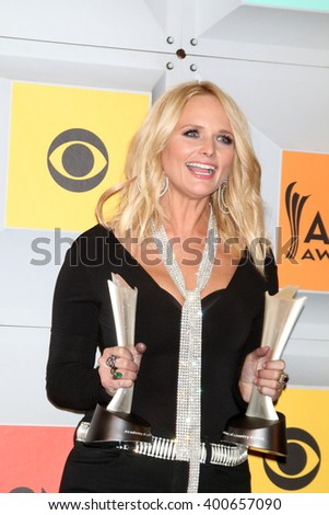 LAS VEGAS - APR 3:  Miranda Lambert at the 51st Academy of Country Music Awards at the MGM Grand Garden Arena on April 3, 2016 in Las Vegas, NV - stock photo