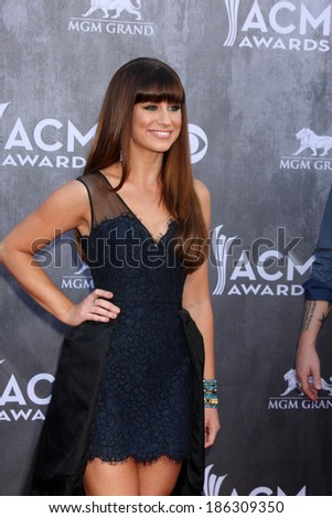 LAS VEGAS - APR 6:  Rachel Reinert at the 2014 Academy of Country Music Awards - Arrivals at MGM Grand Garden Arena on April 6, 2014 in Las Vegas, NV - stock photo