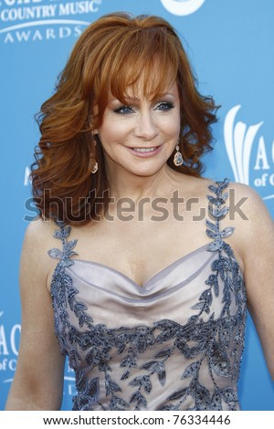 LAS VEGAS - APR 18:  Reba McEntire at the 45th Annual Academy of Country Music Awards held the MGM Grand Garden Arena in Las Vegas, Nevada on April 18, 2010.
